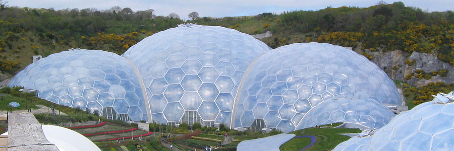 The Eden Project is only an hour's drive from Bude