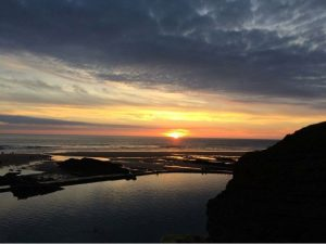 Sunset over Bude sea pool - one of our favourite Bude sunset photographs