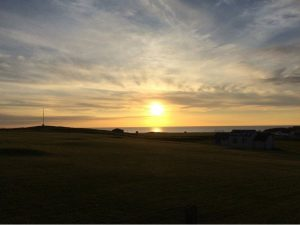 Sunset over Bude & North Cornwall Golf Club - one of our favourite Bude sunset photographs