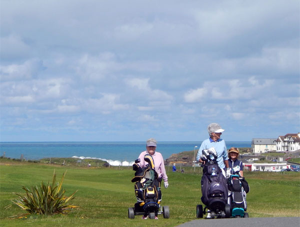 Bude & North Cornwall Golf Course is directly across the road from Surf Haven Bed & Breakfast in Bude