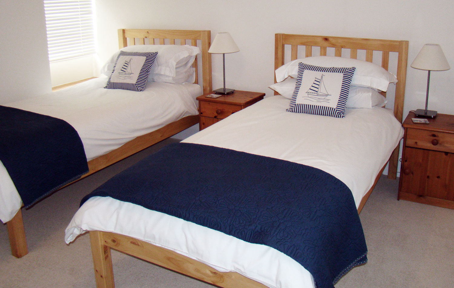 The Standard Twin Room at Surf Haven Bed & Breakfast, Bude, Cornwall