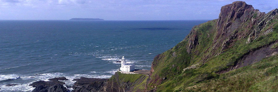 Hartland Point is within an easy drive of Bude and offers excellent views out to Lundy Island
