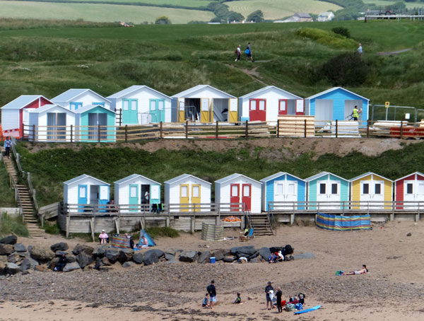 Beach Huts on Summerleaze Beach, Bude Beaches