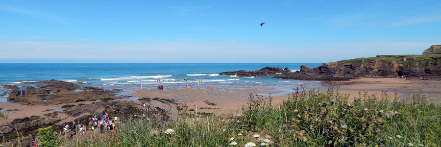 Crooklet's Beach in Bude, Cornwall - one of the Bude beaches