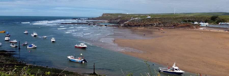 Summerleaze Beach in Bude, Cornwall, one of the Bude beaches